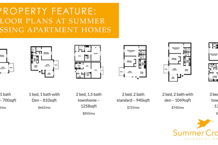 Property Feature: 6 Floor Plans at Summer Crossing Apartment Homes